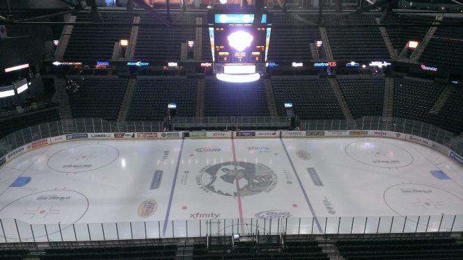 An empty Van Andel arena.