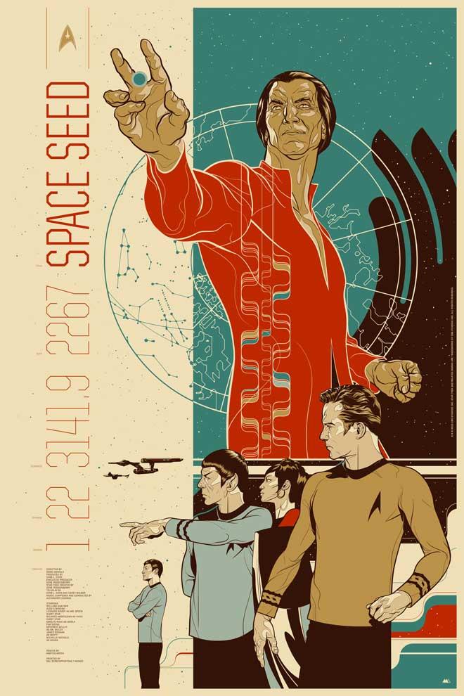 "The episode ""Space Seed"" of Star Trek: The Original Series introduced the quintessential Trek villain Khan Noonien Singh (played by Ricardo Montalban)."